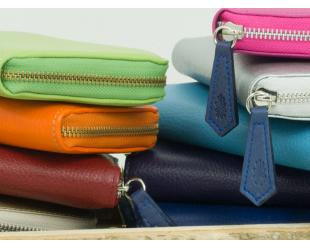 Handbags in various colours