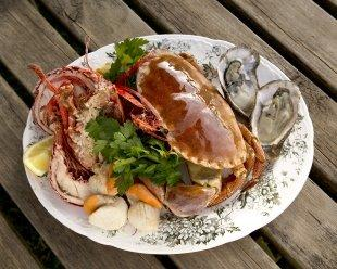 The George & Dragon pub in Rowde specialises in seafood